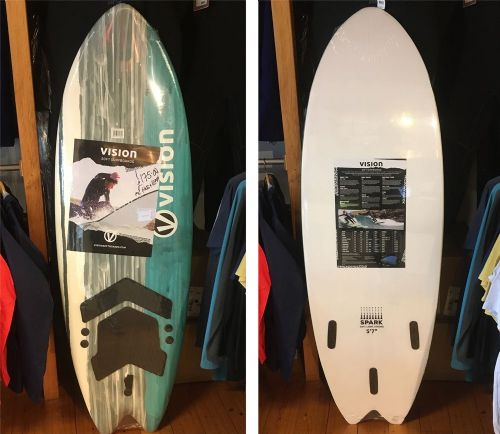 "Vision Spark 5'7"" Fish 'Soft' Surfboard"